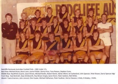 Redcliffe Tigers History 1981