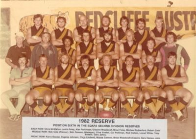 Redcliffe Tigers History 1982