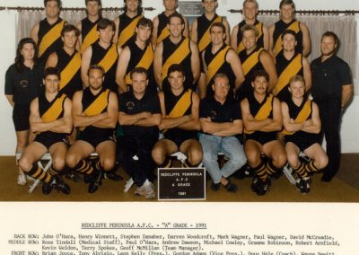 Redcliffe Tigers History 1991