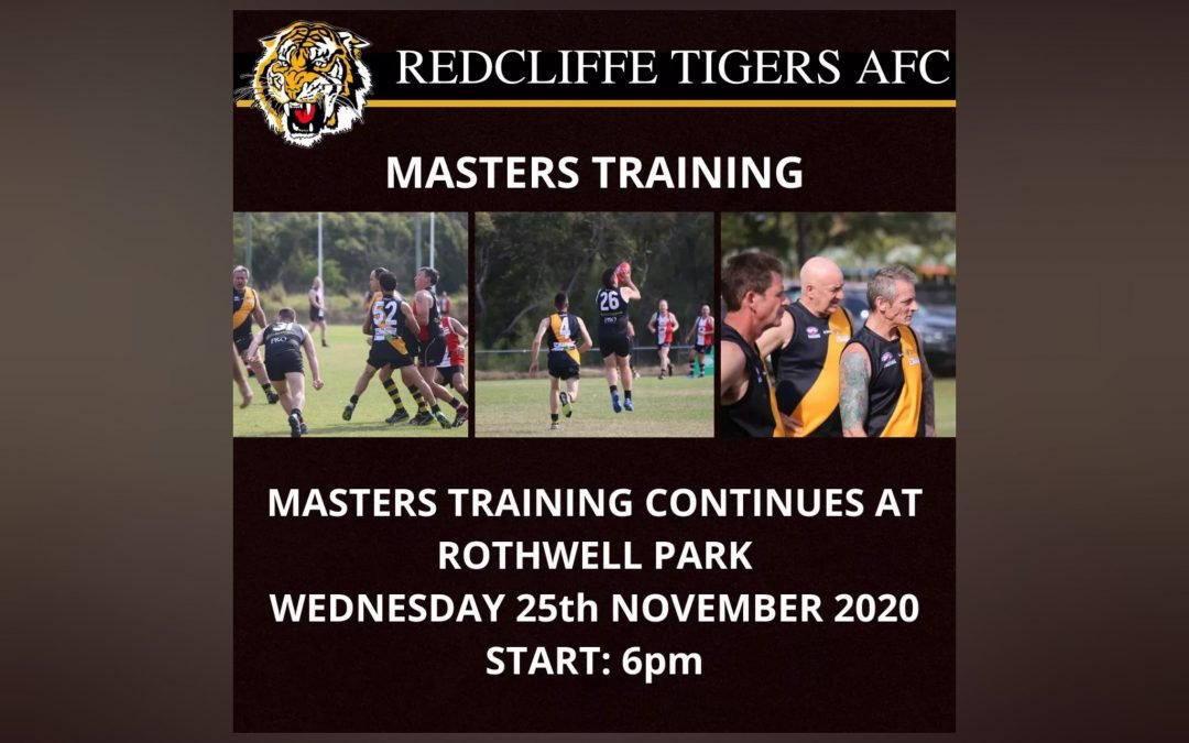 Masters training returns to Rothwell Park