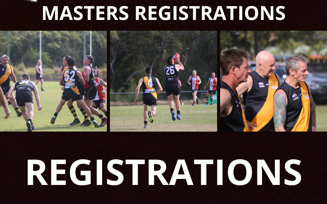 Masters Registrations now open