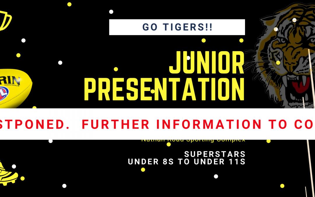 Junior Presentation postponed